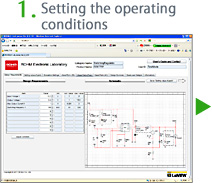 1.Setting the operating conditions